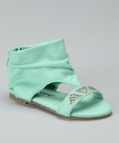 Take a look at this Turquoise Stud Gladiator Sandal for toddler/girls by COCO Jumbo on #zulily today!