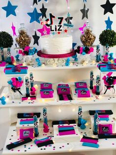 Double Birthday Parties, Dance Party Birthday, 10 Birthday Cake, Birthday Presents For Girls, Birthday Cakes For Teens, 12th Birthday, Birthday Party Themes, Girl Themes, Decoration