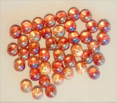 BF-226 $1.99 Gold Iridescent Glass Beads