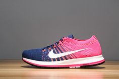 4417729ab35 Authentic Nike Womens Air Zoom Flyknit Streak 6 Pink Pow Navy Blue Air Zoom  Flyknit Streak 6 On Line