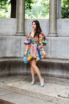 Like a Painting - Summer in Bubble Hem Dress - Wendy's Lookbook Wendy's Lookbook, Blue Dresses, Summer Dresses, Weekend Wear, All About Fashion, Skirt Outfits, Dress Skirt, Bubble, Style Inspiration