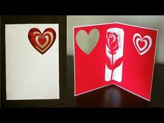 Rose pop up card (valentine's day, birthday or greeting) - EzyCraft - YouTube