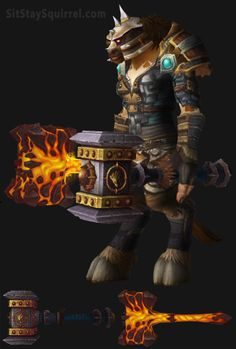 Tauren Female Enhancement Shaman Artifact Transmog Set. World of Warcraft Legion