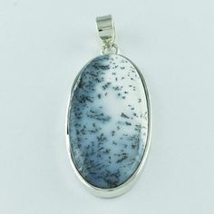 DENDRITE STONE NEW ARRIVAL BEAUTIFUL DESIGN 925 SOLID STERLING SILVER PENDANT #SilvexImagesIndiaPvtLtd #Pendant
