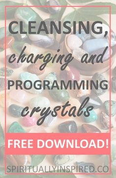 Crystals are so much more than just gorgeous stones. Learn to tap into their healing powers, how they work, and how to incorporate them into your life. Cleansing, charging, programming, oh my!