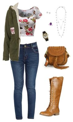 """""""Untitled 571"""" by leo-s-fire ❤ liked on Polyvore featuring Topshop, Rainbow, Lucky Brand, JFR, River Island, Refresh and Chloé"""