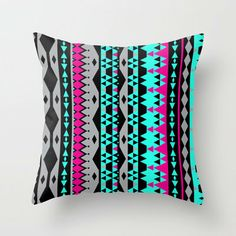 Mix #503 Throw Pillow by Ornaart on Wanelo