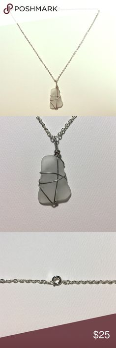 "Handmade sea glass necklace Authentic seatless from the shores of the Outer Banks, North Carolina. 18"" silver chain. Not actually from Maurice's. Maurices Jewelry Necklaces"