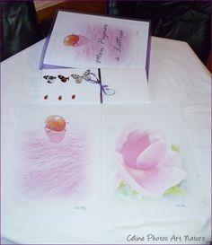 Papier à lettres réalisé à partir des  photos de fleurs de roses de Céline Photos Art Nature