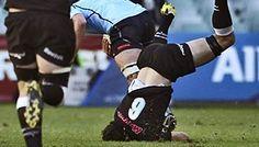 Dean Mumm's huge hand-off on the Sharks' Marcel Coetzee - Super Rugby 24/3/12