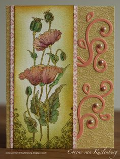 Corine's Art Gallery: Chocolate Baroque Pretty Poppies Candy House, Baroque Design, Various Artists, Types Of Art, Art Gallery, Projects To Try, Card Making, Paper Crafts, Fancy
