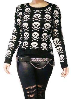 ANTIbrand Gothic Skull Knitted Jumper