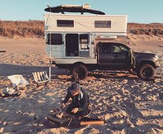 Truck Bed Camping, Off Road Camping, Camping Stuff, Devon, Truck House, Defender Camper, Tundra Truck, Slide In Camper, Pickup Camper