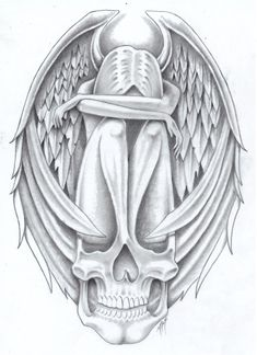 tribute to DOLLFACE1985 by markfellows on DeviantArt   *   Angel Fantasy Myth Mythical Mystical Legend Wings Feathers Faith Valkyrie Odin God Norse Death Dark Light Coloring pages colouring adult detailed advanced printable Kleuren voor volwassenen coloriage pour adulte anti-stress kleurplaat voor volwassenen Line Art Black and White