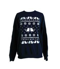 Ugly Christmas Sweater - Cat Sweatshirt - Unisex Sizes S, M, L, XL on Etsy, $24.00