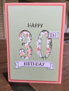 Card for El • Crisp Cantaloupe 8 x 5 3/4 • Calypso Coral 5 1/2 x 3 3/4 • Pistachio Pudding 5 1/4 x 3 1/2 • Gold Soirée DSP • Number of Years stamps and framelits bundle • Cased from http://lovinglifeslittleblessings.com/2016/01/stampin-occasions-catalog-just.html • Stampin' Up! •