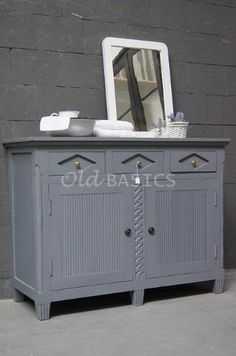 Zweedse commode 10031 (lichtgrijs) - Stevig dressoir in Zweedse stijl ...