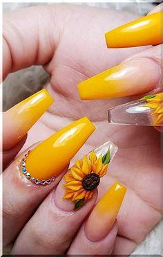 Neon Yellow Nails, Bright Summer Acrylic Nails, Yellow Nails Design, Yellow Nail Art, Best Acrylic Nails, Pastel Yellow, Black Nails, Acrylic Nails Yellow, Acrylic Nails Stiletto