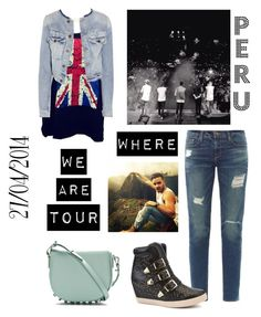 """""""WWAT PERU♥"""" by laura-maby ❤ liked on Polyvore featuring Frame Denim, Alexander Wang, Bronx and TEXTILE Elizabeth and James"""