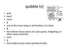 quibble #gre #cat #vocabulary