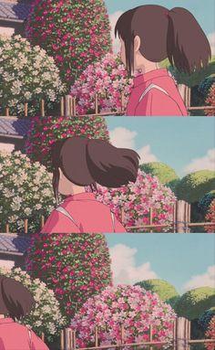 Totoro, Hayao Miyazaki, Girls Anime, Anime Art Girl, Aesthetic Art, Aesthetic Anime, Chihiro Y Haku, Studio Ghibli Spirited Away, Studio Ghibli Art