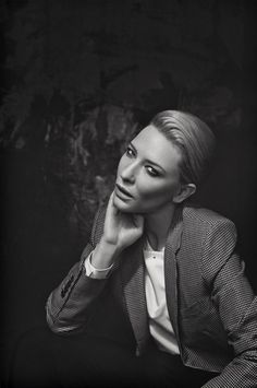 Cate Blanchett photographed by Francesco Carrozzini for L'Uomo Vogue (March 2014).