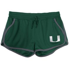 NCAA Women's University of Miami Hurricanes Mesh Shorts, Size: Large, Green