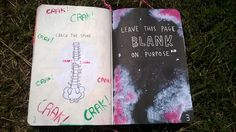 wreck this journal: CRACK THE SPINE  LEAVE THIS PAGE BLANK ON PURPOSE