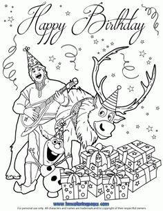1000 Images About Disney Frozen Birthday Coloring Pages On Pinterest