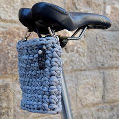 Cesta S. Cesta para el sillín de tu bicicleta. por amacrochet