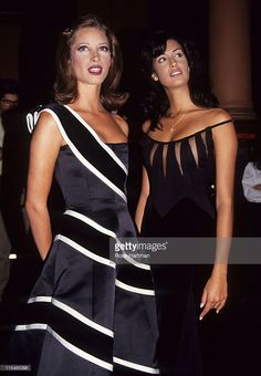 Christy Turlington and Yasmin Ghury during 'Valentino : Thirty Years of Magic' Gala Retrospective at 67th Street Armory in New York City, New York, United States.