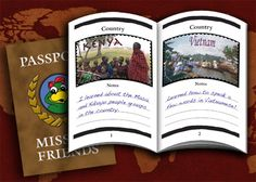 Mission Friends Passport and Stamps: Create a Passport as we learn about countries