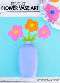 Recycled Flower Vase Art - Perfect for Mother's Day! #CareToRecycle #CG