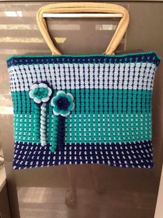 Ah tas Granny Square Bag, Crochet World, Jute Bags, Love Crochet, Green Bag, Purses And Bags, Projects To Try, Handbags, Knitting