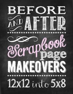 before and after scrapbooking