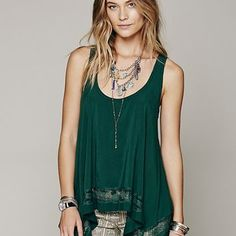 Intimately Womens Outlined High Low Cami -