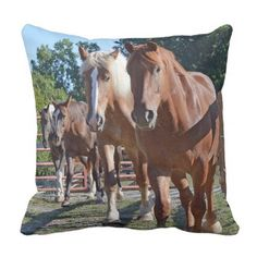Horses Headed Back To The Barn Throw Pillow - barn gifts style ideas unique custom