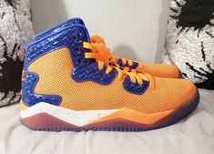 best loved 387a5 c752a Nike Air Jordan Spike Forty PE Total Orange Game Royal-White Men s Shoes  Size