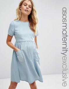 ASOS+Maternity+Denim+Full+Swing+Dress