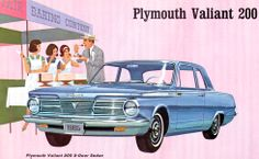 1965 Plymouth Valient 200 Two Door Sedan My first car but white..loved those chrome bumpers!