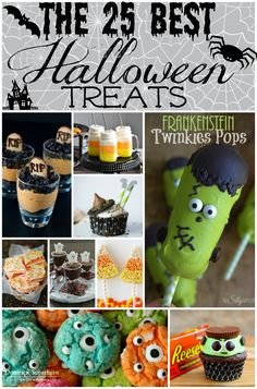 The 25 BEST Halloween Treats and Desserts! Great ideas! milkshakes to cookies to cupcakes! #desserts #halloween