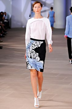 preen spring 2012 Love the skirt, but I'm afraid I won't be wearing that blouse.