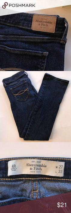 Abercrombie & Fitch Jeans Abercrombie & Fitch Jeans Excellent Condition  Dark Blue  Size 4 Regular  Thank You for looking and please check out my closet Abercrombie & Fitch Pants