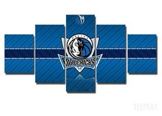 2017 Dallas Mavericks Banner - 5 Piece Canvas Painting