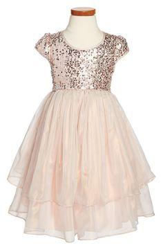 Such a cute sequin cap sleeve dress!