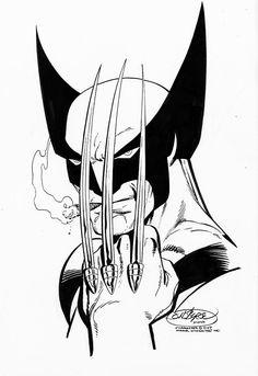 Hugh Jackman in the Classic Wolverine Suit Marvel How To Draw Wolverine, Wolverine Claws, Wolverine Art, Logan Wolverine, Logan Xmen, Comic Book Artists, Comic Book Characters, Comic Artist, Marvel Characters