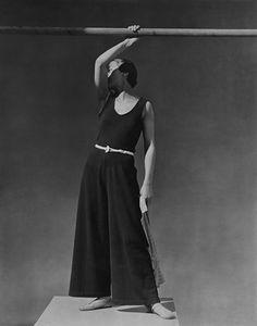 George Hoyningen-Huene, Simone Demaria, Beachwear by Schiaparelli, 1930