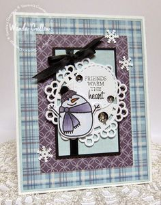Wanda Cullen: Cullen-ary Creations –  Color Throwdown - 11/5/14 (Paper Smooches stamp: Winter Groves. Flourishes: Warm Winter Wishes)