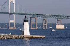 Newport Harbor Light, Newport, Rhode Island...Small in size but long in coastline, Rhode Island has 21 lighthouses.