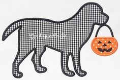 Halloween Dog Applique - 3 Sizes! | Halloween | Machine Embroidery Designs | SWAKembroidery.com Applique Cafe